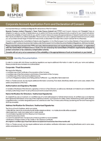 application Form Corporate Account